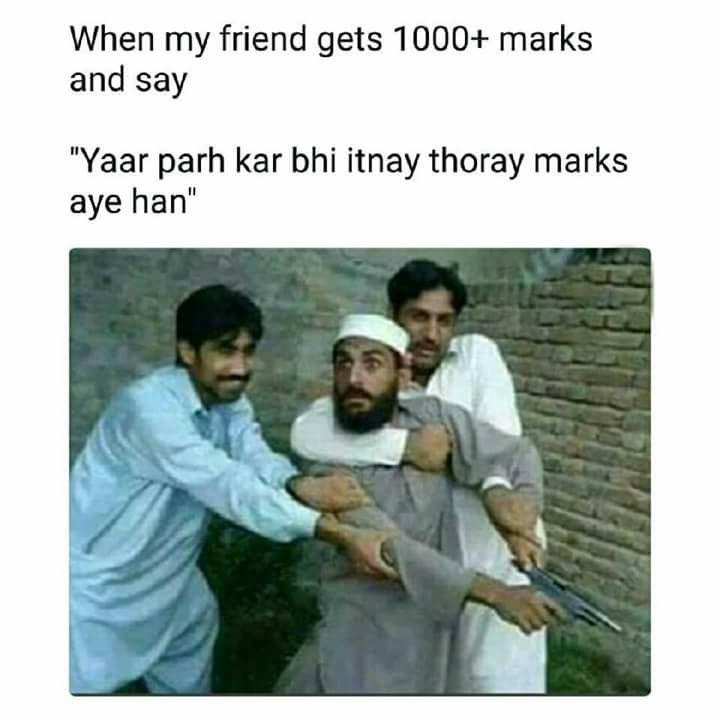 When Friend Gets Thousand Plus Marks