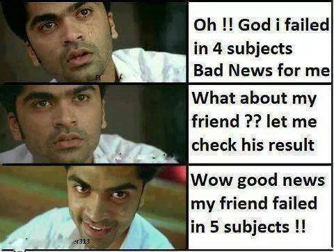 When Friends Failed In Exam Funny Pic