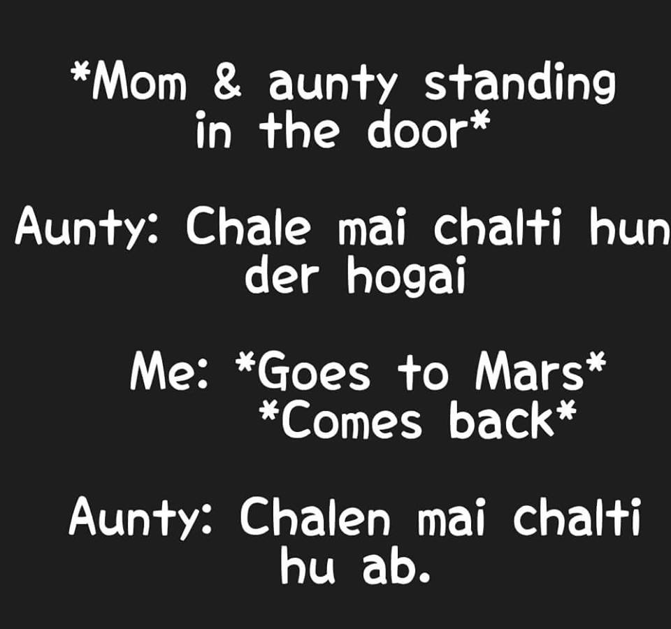 When Mom And Aunty Talks