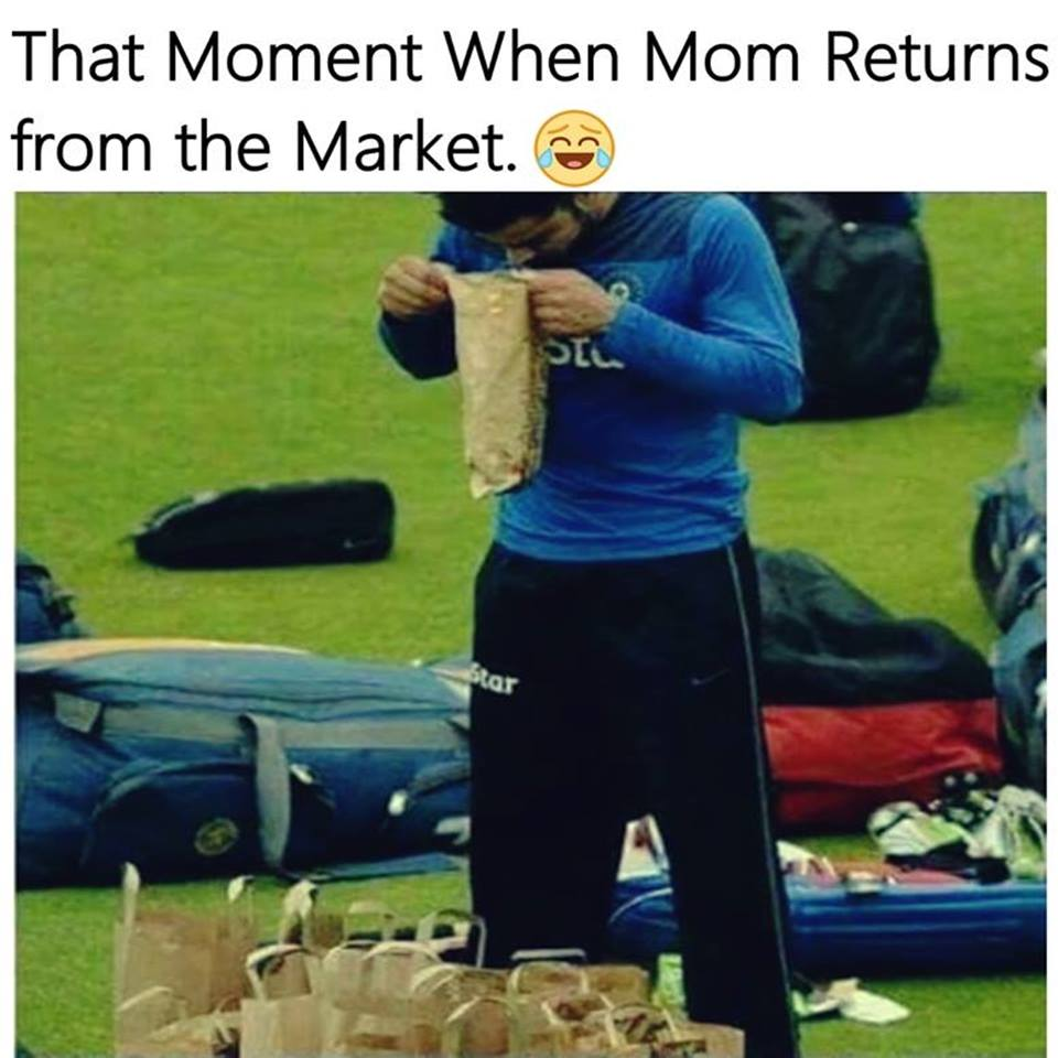 When Mom Returns From The Market