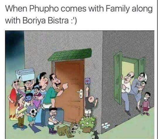 When Phupo Comes With Family