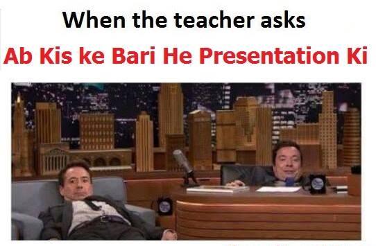 When The Teacher Asks