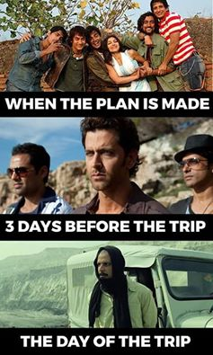 When The Trip Plan Is Made