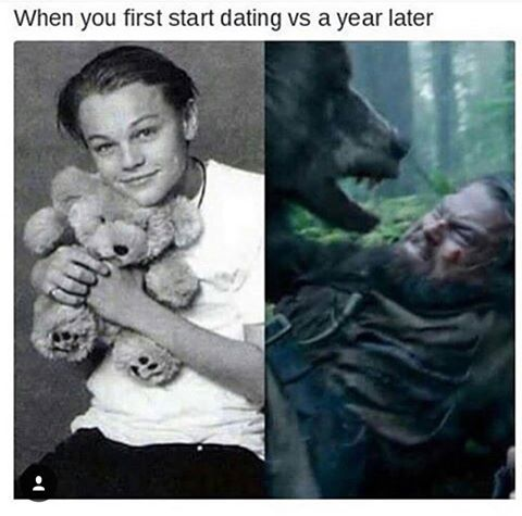 When You First Start Dating Vs A Year Later