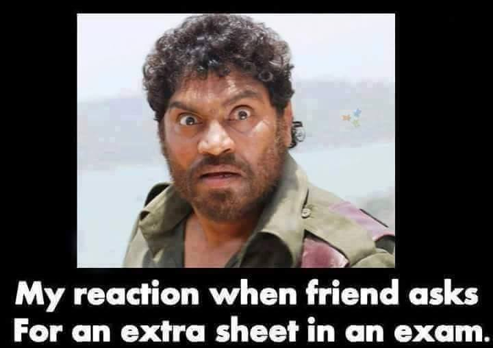 When Your Friend Ask For An Extra Sheet