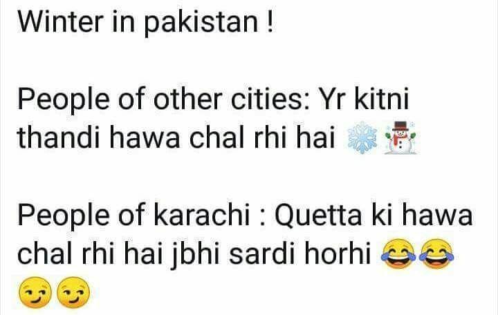 Winter In Pakistan Be Like