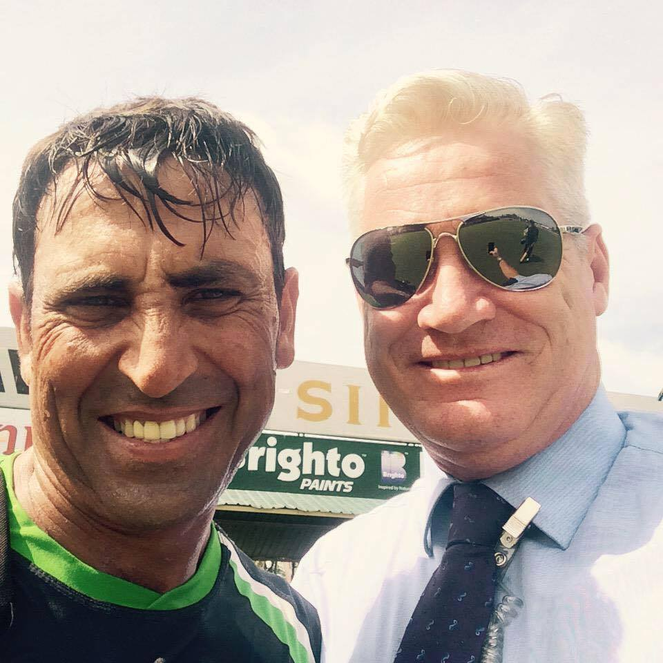 Younis Khan With Dean Jones