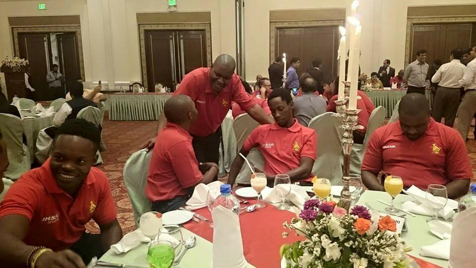 Zimbabwe Cricket Team At Dinner hosted by DCO