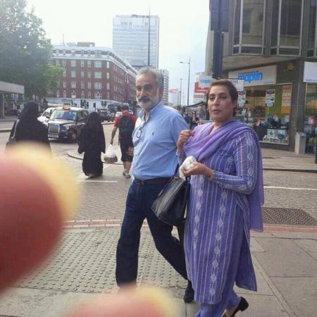 Zulfiqar Mirza & Fehmida Mirza spotted in London