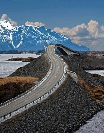 Atlantic Road through Norway