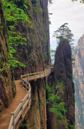 Cliffside Path, Huangshan, China