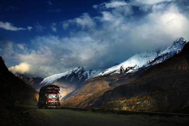 Highway to Hunza Valley, Pakistan