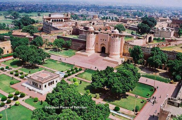 Lahore Fort From the Minars of Badshahi Masjid, Lahore