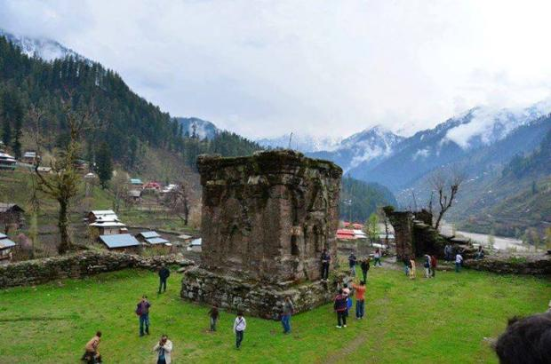 Remains of Budha University Sharda Azad Kashmir