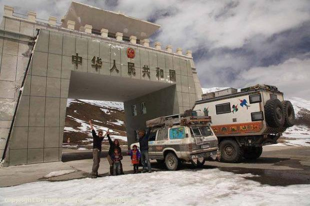 Tourists entering China from Pakistan, PAK- China Border