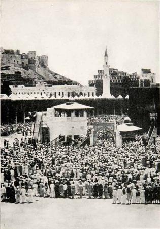 1932 - Hajj Pilgrims at Khana Kaaba - Masjid Al-Haram
