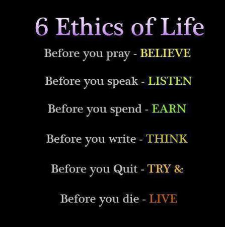 6 Ethics Of Life