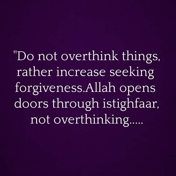 Do Not Overthink Things