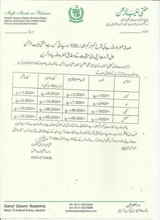 Fitra Rate In Pakistan 2017 (100)