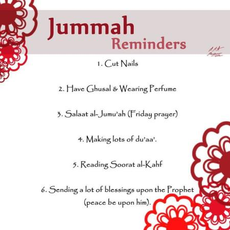 Friday (Jumma) Reminders