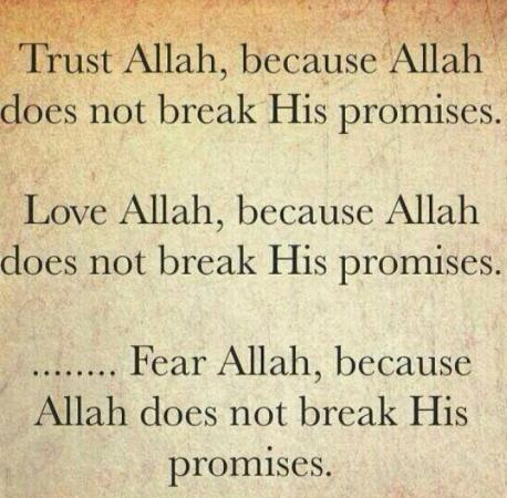 Love Allah, Trust Allah and Fear Allah