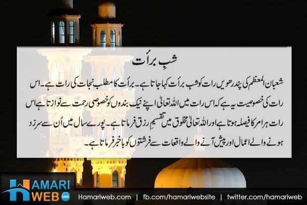 Shab e Barat Ki Fazeelat In Urdu - Islamic & Religious Images & Photos