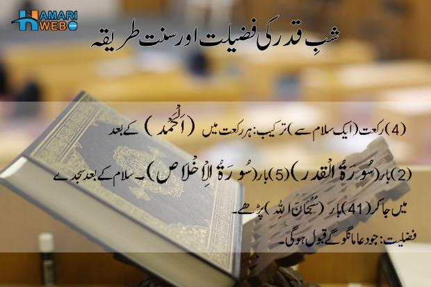 Shab e Qadr Ki Fazeelat aur Sunnat Tarika in Urdu
