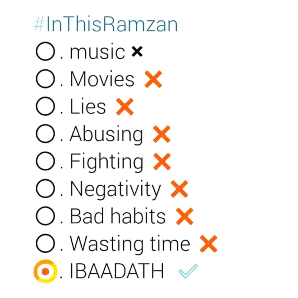 Things To Do In This Ramadan