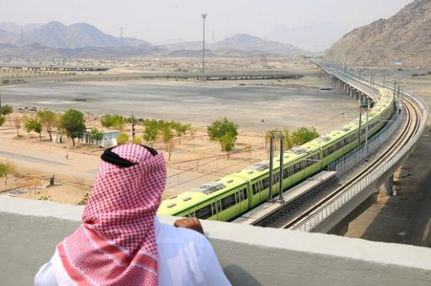 Trains for Hajj Pilgrimage in Maakah, Saudi Arabia