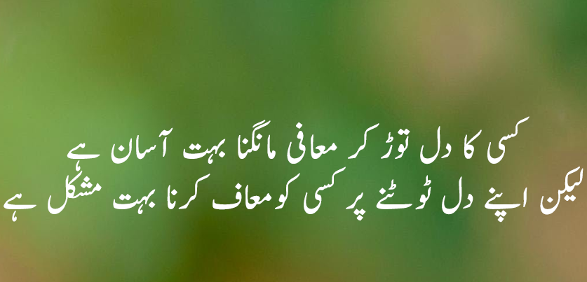 Urdu Quote About Forgiveness
