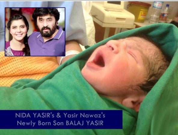 Nida Yasir and Yasir Nawaz Newborn Baby