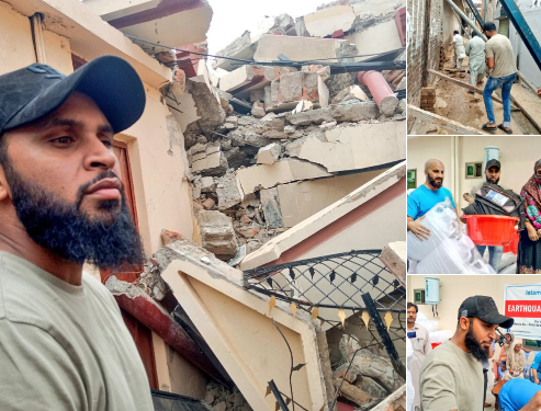 Adil Rashid Made A Visit To Earthquake Affected Areas Of Mirpur