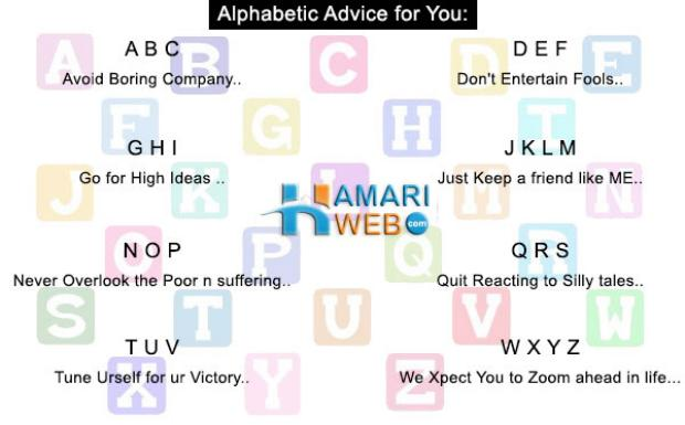 Alphabetic Advice for You