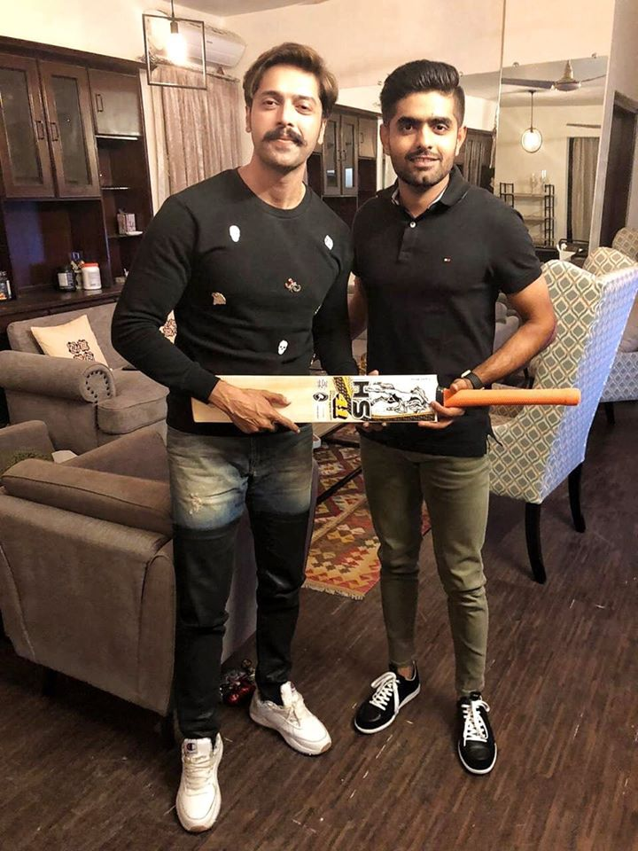 Babar Azam Gifted His Bat To Fahad Mustafa