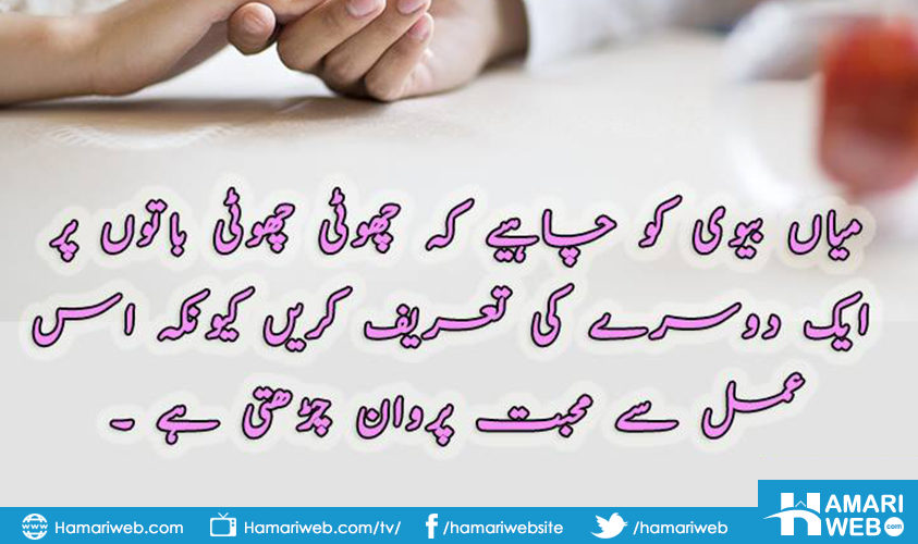 best quotes husband wife relationship in urdu