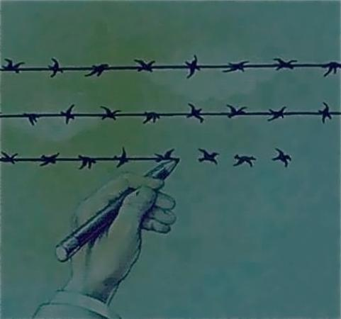 Theres a line between freedom and slavery