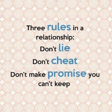 Three Rules In Relationship