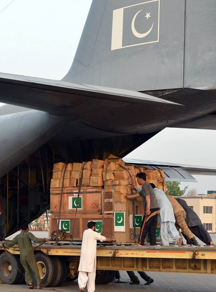 Two Aircraft With Relief Goods Sent To Nepal - ISPR