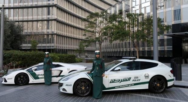 Women drivers for the Dubai Police Supercars