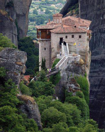 Clifftop, Meteora, Greece