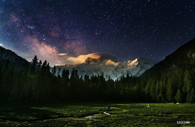 Fairy Meadows with Nanga Parbat