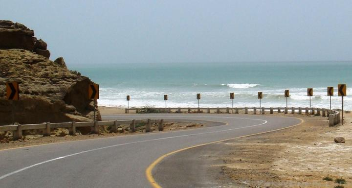 Makran Coastal Highway the way to Kund Malir beach