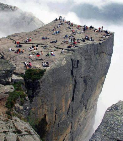 Preikestolen Cliff in Norway