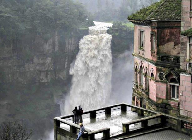 Tequendama Waterfalls, Bogata, Columbia.