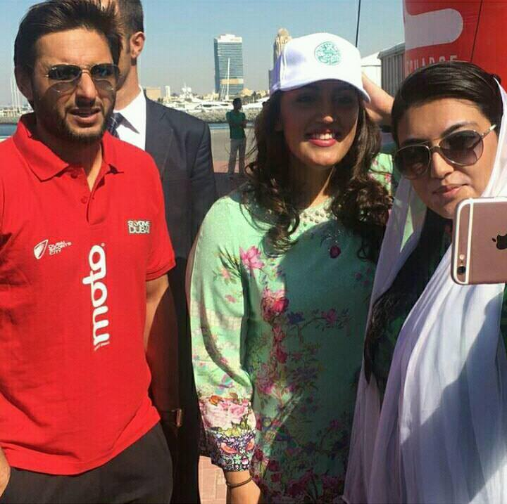 ‎Shahid Afridi‬ with Bakhtawar Bhutto‬ & Asifa Bhutto‬