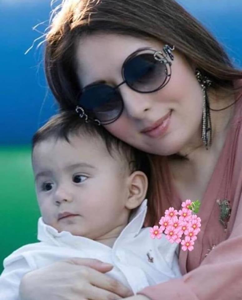 Adorable Click Of Sharmila Faruqi With Her Cute Son