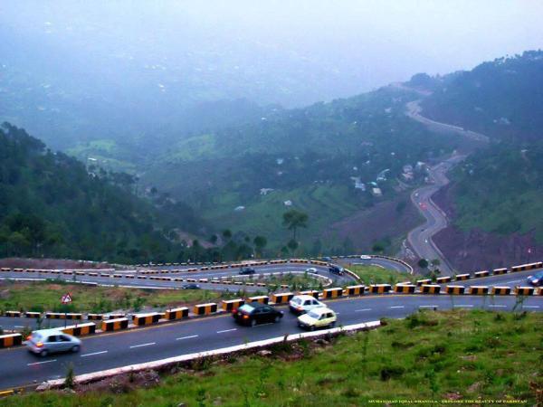 Amazing and Beautiful View of Express Way , Murree, Pakistan