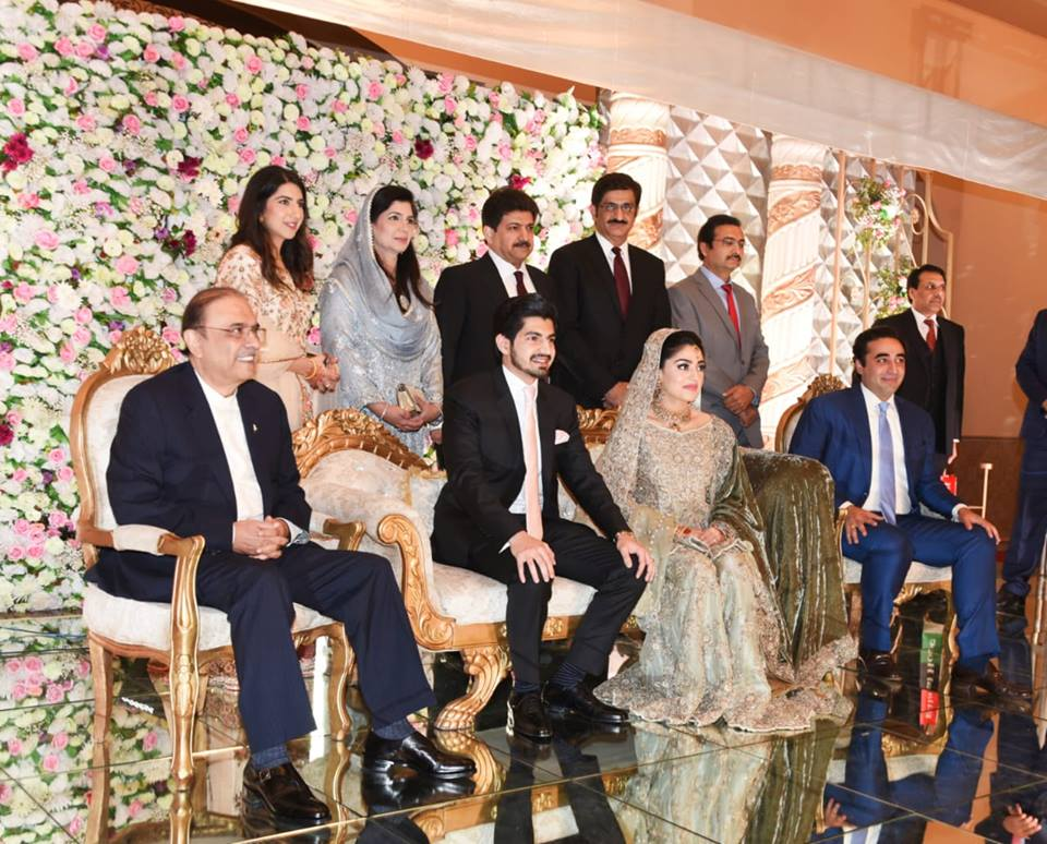 Asif Zardari & Bilawal Bhutto Attends The Valima Reception Of Hamid Mir Son