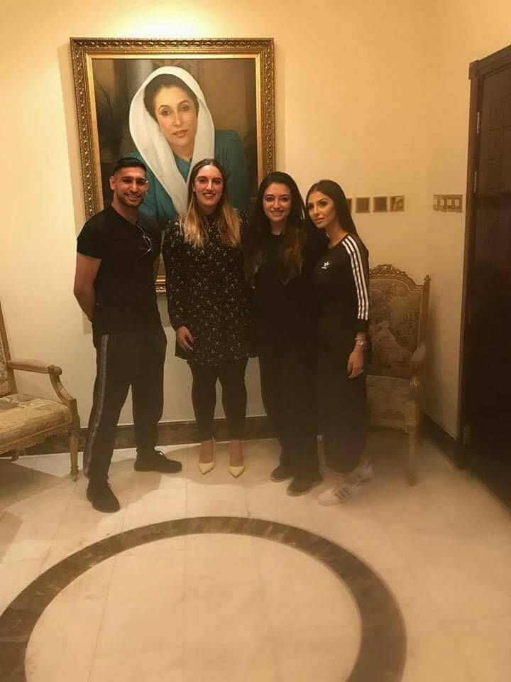 Bakhawar & Aseefa Spent The Day With Boxer Amir Khan & His Wife