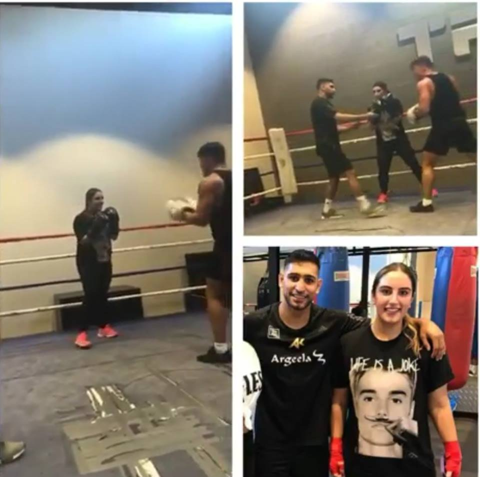 Bakhtawar Bhutto Receives Boxing Training With Amir Khan